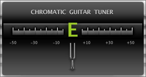Онлайн тюнер для акустической гитары